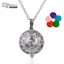 my shape Magnet Health Care Jewelry Religious Eight Diagrams of Yin and Yang Pendent Essential Oil Perfume Diffeser Necklace