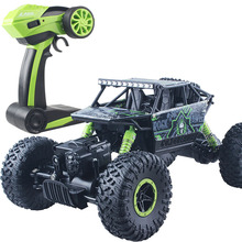 Climbing Rc Car 4WD 2.4GHz Rock Rally 4x4 Double Motors Bigfoot Car Remote Control Model Off-Road Vehicle Toy 004(China)