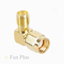 SMA Male Jack To RP SMA Female Jack Plug Adapter Connector L Shape SMA Antenna Right Angle Connector(China)