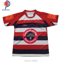 OEM service mens cheap sublimation custom team set rugby jersey, wholesale rugby uniforms for team(China)