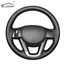 Artificial Leather car steering wheel braid for Kia K5 2011 2012 2013 Kia Optima/Custom made Steering cover(China)