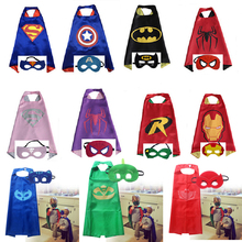 New 11 styles Mask+cape kids baby superhero spider man superman batman spiderman cosplay carnival birthday party costume clothes