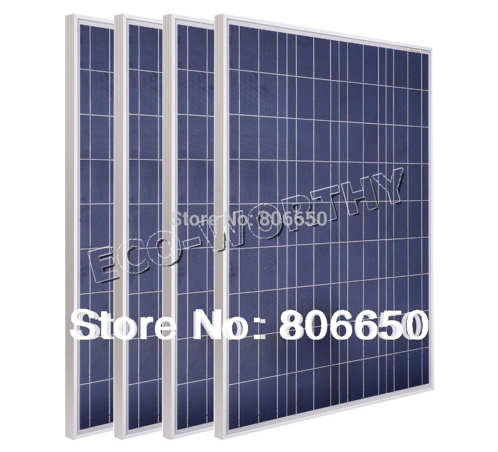 Stock 400w -4PCS 100W 12v Solar Panels for Solar Home System for Battery Charger Camping Solar Generators(China)