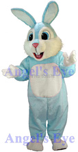Factory Wholesale Kind Rabbit Bunny Mascot Costume New Easter Light Blue/Pink Bugs Bunny Hare Fancy Dress for Carnival SW1482