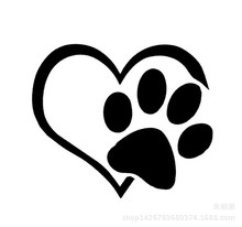 1pc Heart Paw Vinyl Decal Car Truck Sticker Bumper Window Adopt Bully Heart Cat Dog Laptop Boat Truck AUTO Bumper Wall Graphic