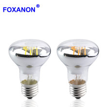 Foxanon E27 LED Filament Bulb 85-265V Globally applicable Real Power 4W 6W Edison LED Lamp Replace Incandescent For Pendant lamp(China)