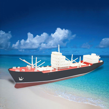 Free shipping DIY Million Ton Oil Tanker Rainbow Electric Assembly Model Kits Ship Model Educational Toy Children Gifts