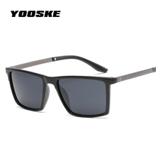 YOOSKE Mens Square Polarized Sunglass Fashion Popular Brand Sunglasses Driver Driving Safety Protect Eyeglasses Vintage Glasses