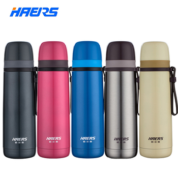 Haers Thermos Bottle Insulation Cold Water Bottle Stainless Steel 24 Hours Insulated Tumbler 500ML