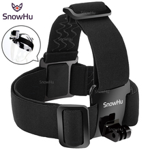 SnowHu for Head strap mount For Gopro Hero 7 6 5 4 3+ Xiaomi yi 4K Action Camera  For Eken H9 SJCAM for Go Pro Accessories GP23(China)