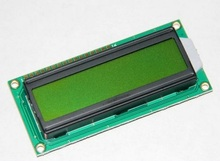 Free Shipping high quality 5pcs/lot 1602A yellow green LCD screen Black Character 5V with backlight(China)