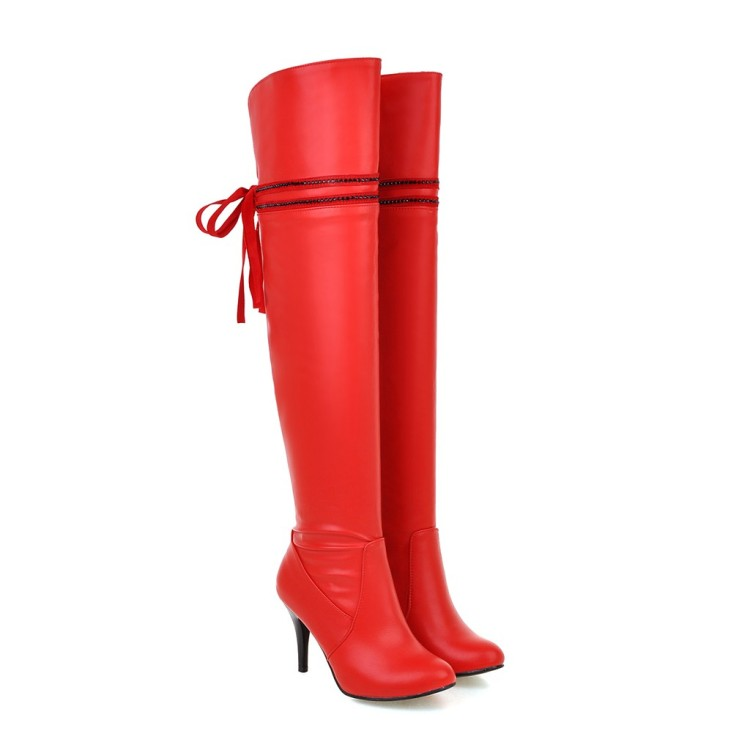 Big size 34-50 2016 Winter New High Heel Boots Leisure Elegant  Heels Sexy Women Shoes Round Toe Thin Heel Leather Boots 916<br><br>Aliexpress