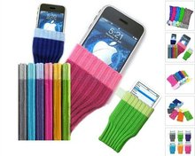 6 x iSOCK SOCK CASE BAG POUCH COVER FOR IPOD TOUCH 2ND 3RD 4TH NANO CLASSIC IPHONE 3 4 MP3 MP4(China)
