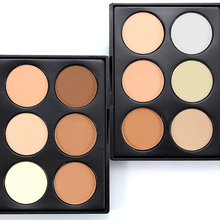 Nude Concealer Powder Palette Foundation Facial Shadow Face Nose Contour Palette Cosmetics Oil-control Natural Makeup For Women