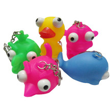 Phone Straps Burst Eyes Animal Dolls Decompression Vent Squishy Toys Christmas Gift Soft Squeeze Toy Fun Phone Accessories P0.11(China)