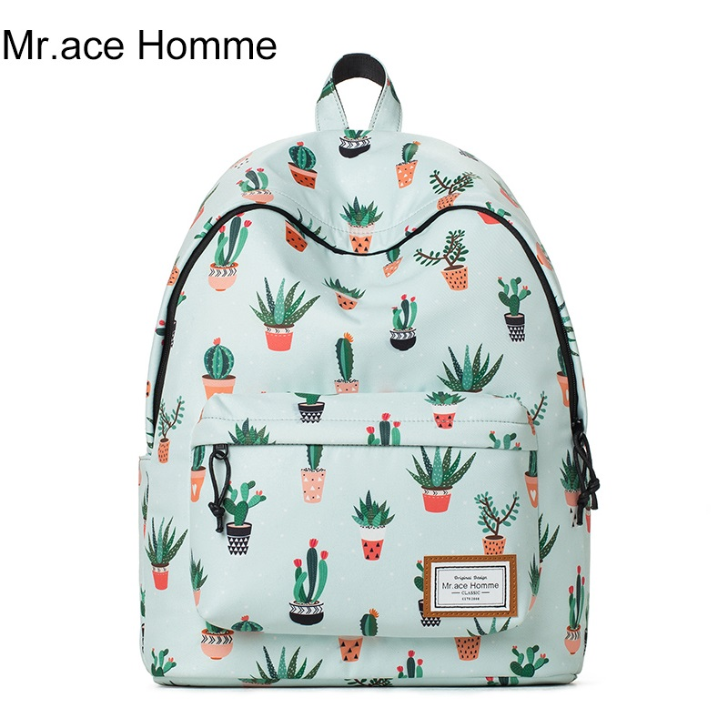 14 laptop backpack female student cartoon cactus cute bags for teenage girls school bags Mori style women fashion travel bags<br>