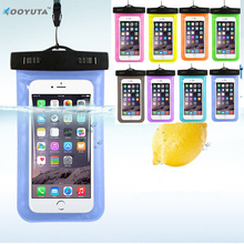 Hot sale Transparent  Waterproof Underwater Pouch Dry Bag Case Cover For iPhone 7 Cell Phone Touchscreen  Mobile Phone