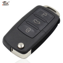DANDKEY Flip Folding 3 Buttons Remote Car Key Case Shell Fob For Volkswagen Vw Jetta Golf Passat Beetle Polo Bora