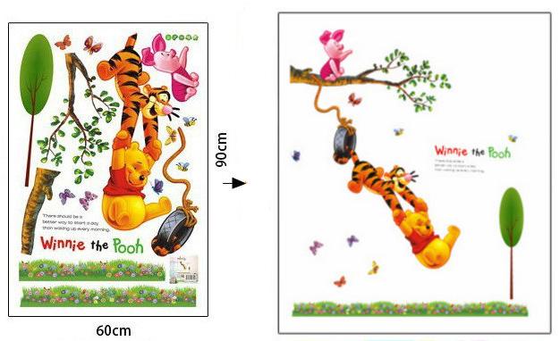 HTB1mnkciaagSKJjy0Fcq6AZeVXaC - Baby Bear Cartoon DIY Wall Stickers For Kids Children Room Decaor 3d Window Bear Winnie Pooh Nursery Wall Decals