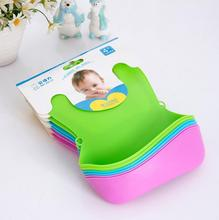 2016 summer 3pcs Hot sale New Baby Silicone Bib Stereo Disposable Bib Kids Bibs Children Pick Rice Pocket Cute Boy  Girls Bibs