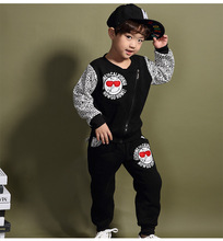 Boys Korean Children's Winter New Glasses Leopard Cashmere Sweater and Suit for Kids Grey Black Cotton for 2~8 Years Old(China)