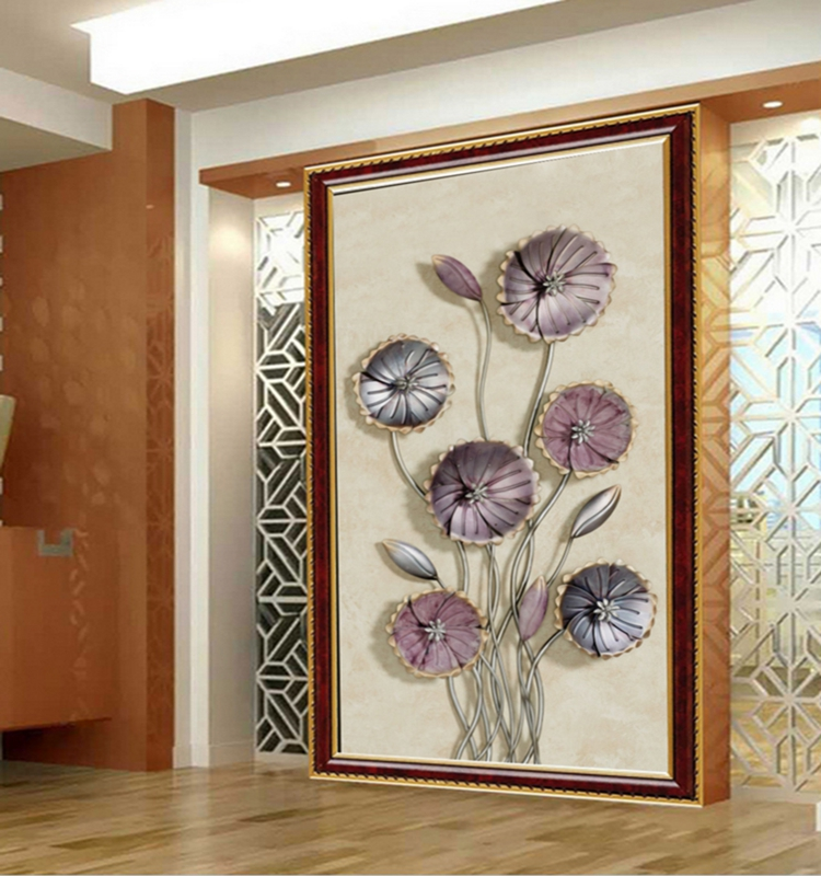 Custom Wallpaper 3D Entrance Hallway Mural Modern Creative Art Wall Mural Entrance Corridor Background Photo Wallpaper Art Mural<br>