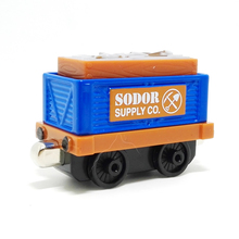 m003Thomas and friend diecast magnetic alloy Children's toy train sodor supply co Planting tool transport trucks Limited Edition(China)