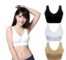 2017 Women Brassiere Girls Bust Push Up Bra Tank Underwear Lady Seamless Sleep Vest Tops Rimless Bras Plus Size BH(China)