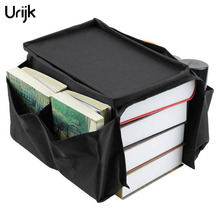Urijk 1Pc Home Storage Organizer For Sofa Arm Black Multi-Layer Hanging Bags Storage Bags For housekeeper Space Saver(China)