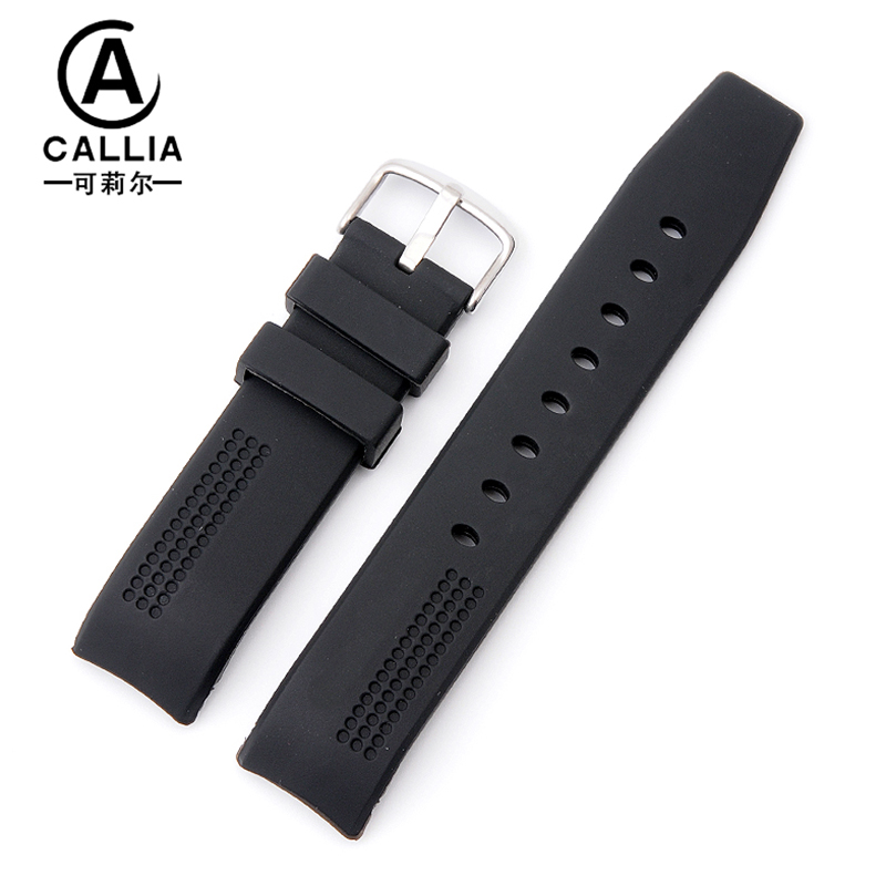 20mm Arc interface High Quality Superior Waterproof Features Silicone Watchbands For CARRERA series Watch Strap Band <br>