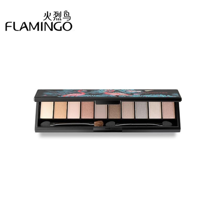 Flamingo 10 Colors Shimmer Matte Eyeshadow Pallete Professional Makeup Glitter Maquillage Palette Make Up Set Beauty LM51001<br>