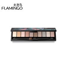 Flamingo 10 Colors Shimmer Matte Eyeshadow Pallete Professional Makeup Glitter Maquillage Palette Make Up Set Beauty LM51001(China)