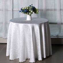 Elegant design high-quality jacquard tablecloth home hotel and catering wedding round table cloth Textile Decoration