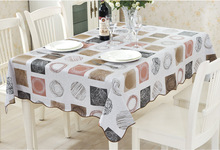 Fashion Plaid Modern Life Tablecloths for Restaurant Home Outdoor Table Cloth Bar Cloth PVC Waterproof and Oilproof  Fast Ship