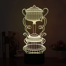 Artical 3D USB Lamp LED Trophy Shape Night Lights LED 7 Colors Changing Room Lamp as Gifts