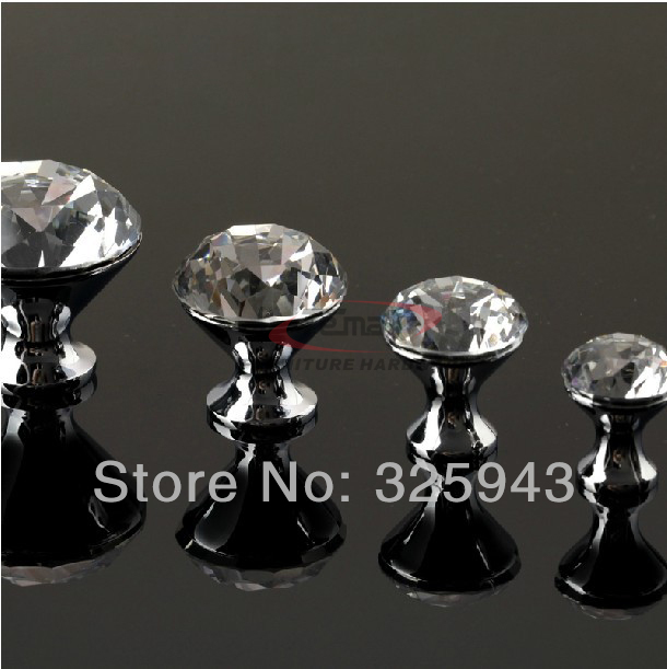 2pcs 25mm European K9 Crystal Kitchen Cabinet Shiny Diamond Glass Dresser Knobs And Pulls Door Handle<br><br>Aliexpress