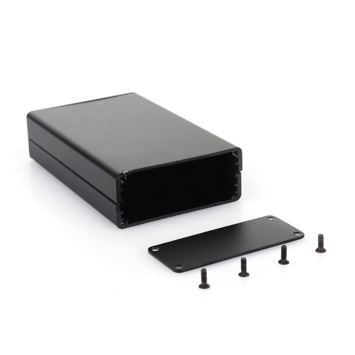 1pc Black Aluminum Enclosure Box PCB Instrument Electronic Project Case 80x50x20mm(China)