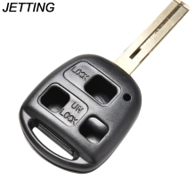 JETTING 3 Button Remote No Chip Uncut Blank Case Cover Key Shell + Short Blade 42mm For Lexus HYQ1512V HYQ12BBT 1PCS