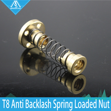 1pcs T8 Anti Backlash Spring Loaded M8 Nut Elimination Gap Nut for 8mm Acme Threaded Rod Lead M8 Screws DIY CNC 3D Printer Parts(China)