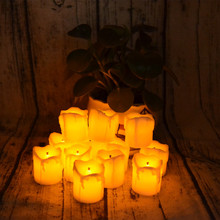 Home Decoration LED Flikering Tea Light Candle with Amazing Amber Light Wonderful Christmas Housewarming Gift(China)