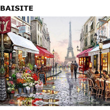 BAISITE Frameless Picture DIY Oil Painting By Numbers Abstract Landscape Picture Canvas Painting For Living Room Wall Decor H355