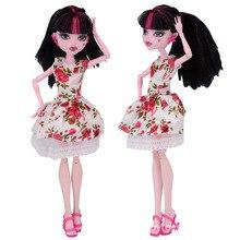 NK один комплект Новые кукла юбка модная одежда ручной работы наряд для Monster High Куклы для BJD Куклы Best подарок 011a(China)