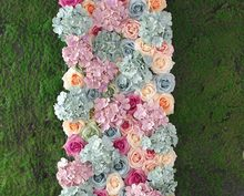 Newest Mixed color 20pcs/lot Artificial silk rose flower wall wedding background lawn/pillar road lead market decoration