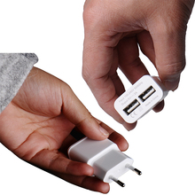5V 2A EU 2 USB Adapter Mobile Phone Wall Charger Device Micro Data Charging For iPhone 4 5 6 iPad Samsung Xiaomi LG Wholesale