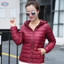 NFIVE Brand 2017 Women Thin Slim Parkas Korean Autumn And Winter New Long Sleeve Keep Warm Coat Quality Zipper Solid Outer Wear(China)