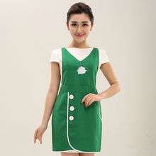 New Fashion Korean Style Apron With Floral Embroidery Waterproof Baking Painting Multicolor Apron Shoulder Strip Apron For Women