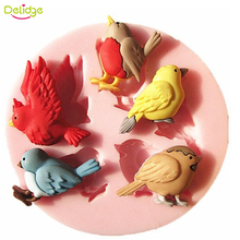 Delidge 1PC 3D 5 Birds Silicone Cake Mold New Design Cute Bird Chocolate Soap Mold Baking Cake Decoration Tool DIY Cake Moulds