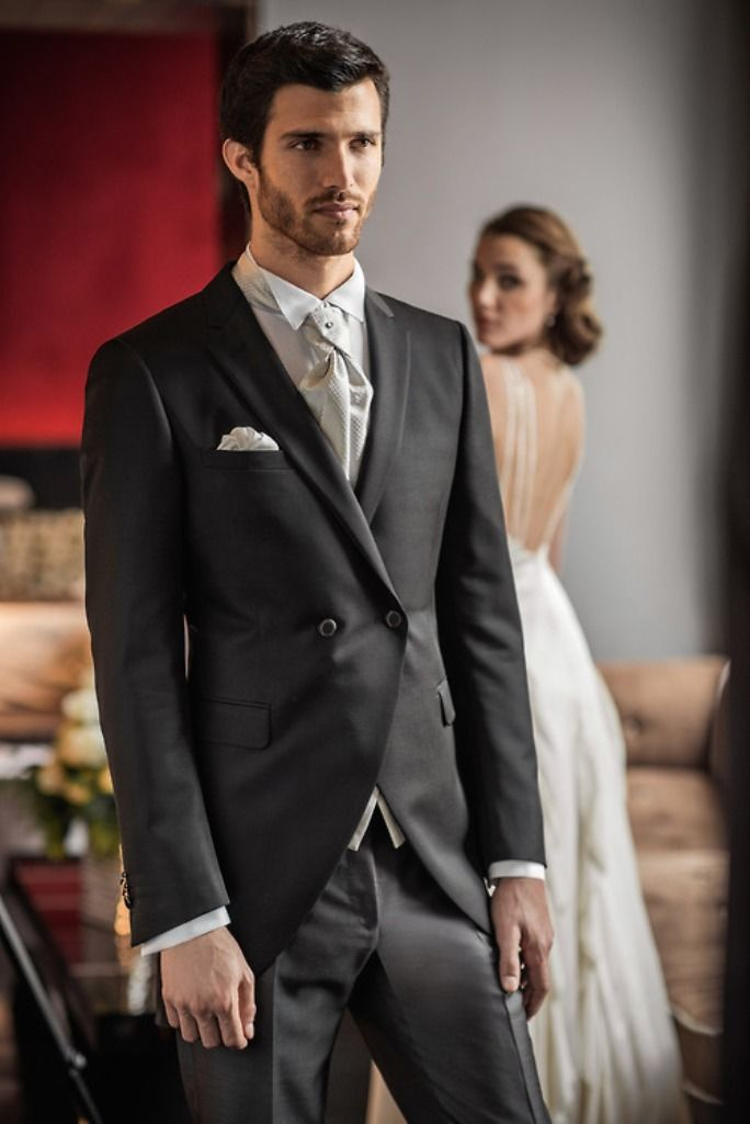 Wedding Suits For Men Fashion Terno Slim Fit Blazer Bespoke CoolBlack Notch Lapel Men Suits (Jacket+Pant+Vest+Tie+Handkerchiefs)