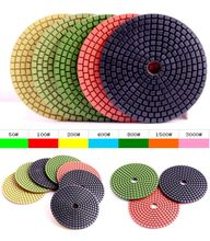 50# 4 inch (100mm) Wet use diamond polishing pads for Granite and Marble slate(China)