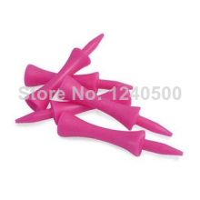 Free Shipping! 100pcs+60MM Plastic pink Golf castle ball Tees Golfer Club Practice Accessory Sports ^d1^